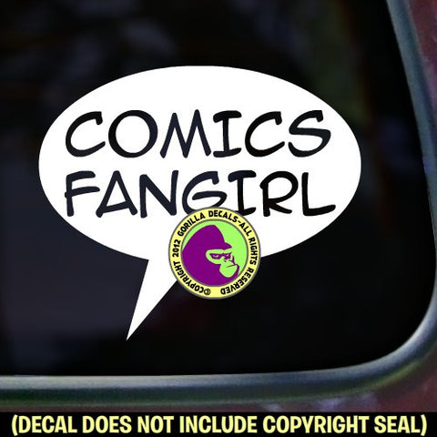 COMICS FANGIRL Vinyl Decal Sticker
