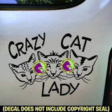 CRAZY CAT LADY FACES Vinyl Decal Sticker