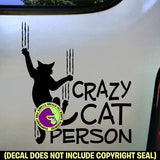 CRAZY CAT PERSON Vinyl Decal Sticker