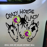 CRAZY HORSE LADY #2 FACES Vinyl Decal Sticker