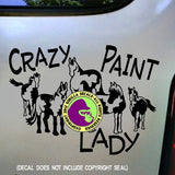 PAINT HORSES - CRAZY PAINT LADY Vinyl Decal Sticker