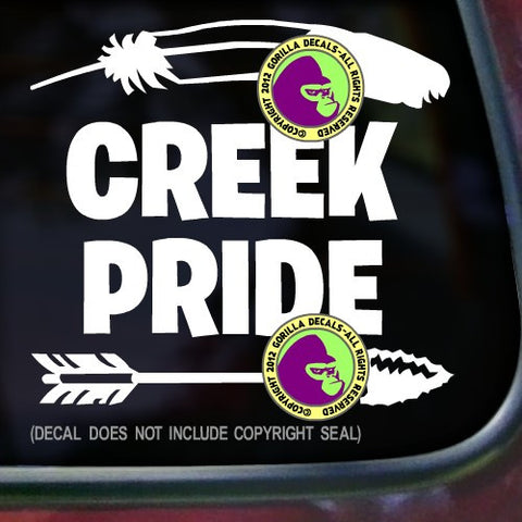 Tribe - CREEK PRIDE Native American Vinyl Decal Sticker