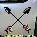 CROSSED ARROWS Native American Vinyl Decal Sticker