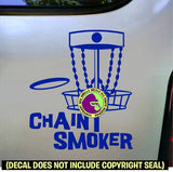 CHAIN SMOKER Disc Golf Frisbee Game Vinyl Decal Sticker