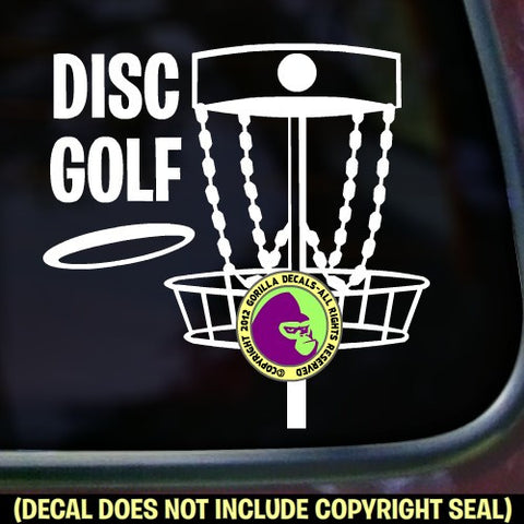 DISC GOLF Frisbee Game Vinyl Decal Sticker