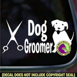DOG GROOMER Vinyl Decal Sticker
