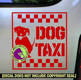DOG TAXI Vinyl Decal Sticker