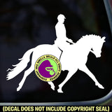 MALE Dressage Rider Vinyl Decal Sticker