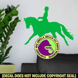 WALL SIZE - Dressage Rider Vinyl Decal Sticker