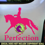 PERFECTION DRESSAGE Vinyl Decal Sticker