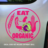 EAT ORGANIC Vinyl Decal Sticker