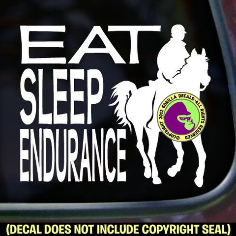 EAT SLEEP ENDURANCE Rider Vinyl Decal Sticker