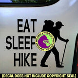 EAT SLEEP HIKE Vinyl Decal Sticker