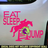 EAT SLEEP JUMPING Hunter Jumper Vinyl Decal Sticker