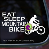 EAT SLEEP MOUNTAIN BIKE Vinyl Decal Sticker