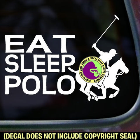 EAT SLEEP POLO Player Vinyl Decal Sticker
