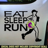EAT SLEEP RUN Runner Marathon Vinyl Decal Sticker
