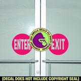 ENTER EXIT Front Door Retail Vinyl Decal Sticker