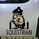 EQUESTRIAN Front View Hunter Jumper Vinyl Decal Sticker