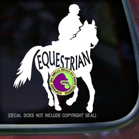 EQUESTRIAN INSIDE TRAIL RIDER Endurance Vinyl Decal Sticker