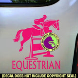 EQUESTRIAN Hunter Jumper #2 Vinyl Decal Sticker