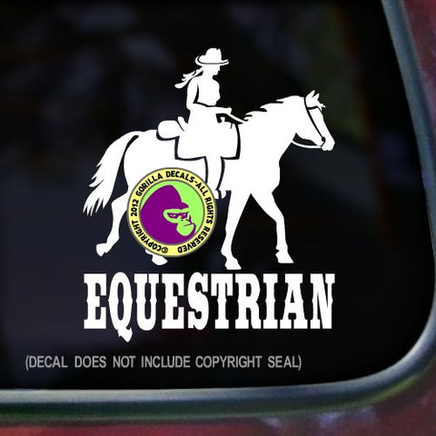 EQUESTRIAN Trail Rider Horse Vinyl Decal Sticker