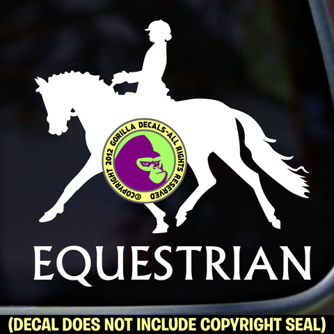 EQUESTRIAN DRESSAGE Vinyl Decal Sticker