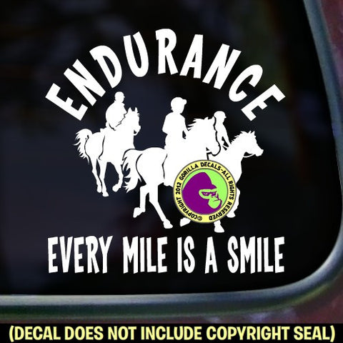 Endurance -EVERY MILE IS A SMILE Vinyl Decal Sticker