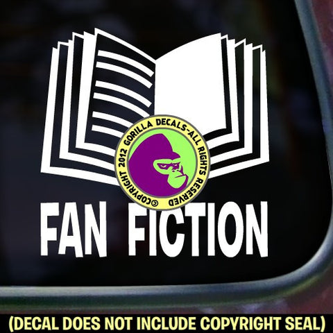 FAN FICTION Vinyl Decal Sticker