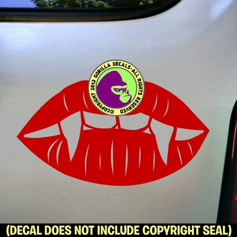 FANGS Vampire Vinyl Decal Sticker
