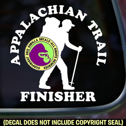 APPALACHIAN TRAIL FINISHER Hiking Vinyl Decal Sticker
