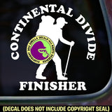 CONTINENTAL DIVIDE TRAIL FINISHER Hiking Vinyl Decal Sticker