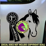 1st Place Ribbon Horse Show Vinyl Decal Sticker