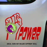 POWER FIST Vinyl Decal Sticker