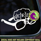NERD Glasses Fist Vinyl Decal Sticker