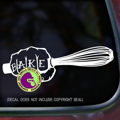 BAKER FIST WHISK Vinyl Decal Sticker