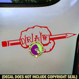 Artist - DRAW Fist Vinyl Decal Sticker