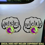 ARSE HOLE Tattoo Knuckles Vinyl Decal Sticker