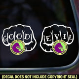 GOOD EVIL Tattoo Knuckles Vinyl Decal Sticker