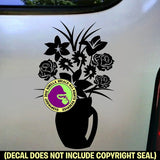 BOUQUET OF FLOWERS Vinyl Decal Sticker