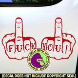 FUCK YOU Tattoo Knuckles Vinyl Decal Sticker
