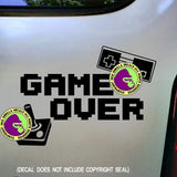 GAME OVER Video Gamer Vinyl Decal Sticker