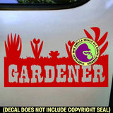 GARDENER LAWN Vinyl Decal Sticker
