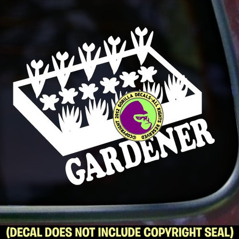 GARDENER Vinyl Decal Sticker