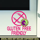 GLUTEN FREE FRIENDLY Vinyl Decal Sticker
