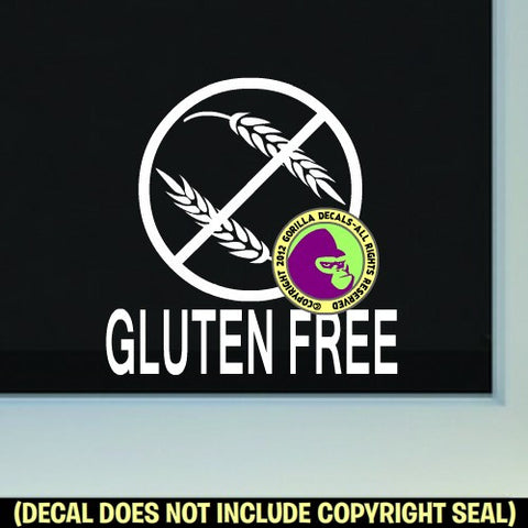 GLUTEN FREE Vinyl Decal Sticker
