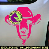 Goat with Cowboy Hat Vinyl Decal Sticker