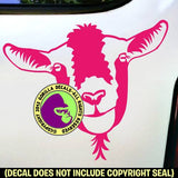 Goat Face Vinyl Decal Sticker