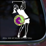 Golfer Female Vinyl Decal Sticker