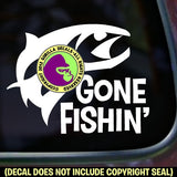 GONE FISHIN' Fishing Vinyl Decal Sticker